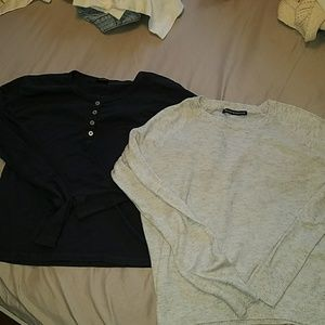 2 Long sleeve tops
